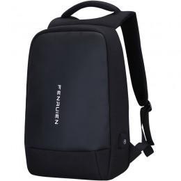 Рюкзак антивор Fenruien Geek Simple для Apple устройств, MacBook и iPad с USB портом для Power Bank