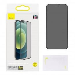 Защитное стекло антишпион для iPhone 12 mini Baseus Tempered Glass Film and Anti-spy Function 0.3 mm SGAPIPH54N-KR01