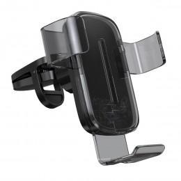 Автомобильный держатель с беспроводной зарядкой Baseus Explore Wireless Charger Gravity Car Mount черный WXYL-K01