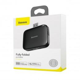 Разветвитель USB портов Baseus Fully folded portable 4-in-1 USB HUB CAHUB-CW01