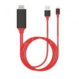 HDMI USB Lightning кабель 2м для iPhone, iPad