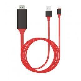 HDMI USB Lightning кабель 2м для iPhone, iPad
