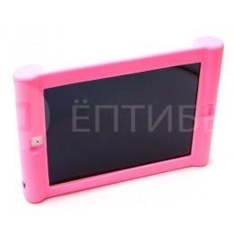 Детский чехол для ребенка для iPad 2/3/4 силиконовый розовый