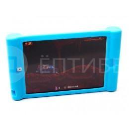 Детский чехол для ребенка для iPad Mini силиконовый голубой