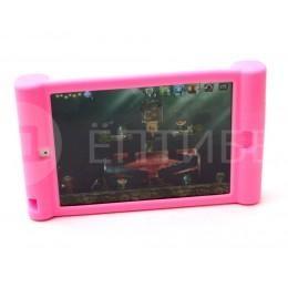 Детский чехол для ребенка для iPad Mini силиконовый розовый