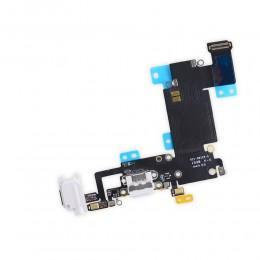 Нижний шлейф с разъемом Lightning и микрофоном для iPhone 6S Plus белый 821-00126-А