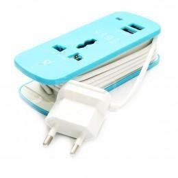 Универсальный удлинитель 220В с 2 USB портами для зарядки Apple техники