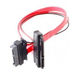 Кабель SATA 7 + 6 pin Male to SATA 7 pin + 15 pin Female удлинитель