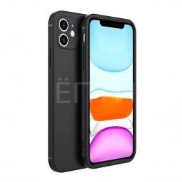 Черный силиконовый стильный чехол для iPhone 12
