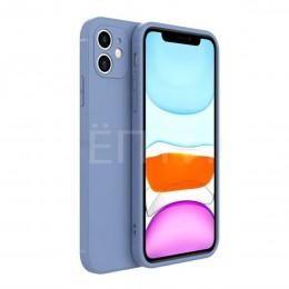 Голубой защитный силиконовый чехол для iPhone 12 mini