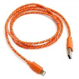 Модный оранжевый USB Lightning зарядка, провод для iPhone 5, 5s, 5c и iPad retina/mini ligtning