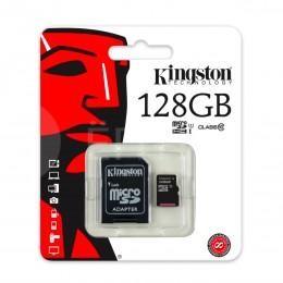 Карта памяти Kingston для камер, телефонов, планшетов 128 ГБ 10 Class MicroSDHC