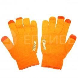 Перчатки iGlove для сенсорных экранов, телефонов iPhone оранжевые
