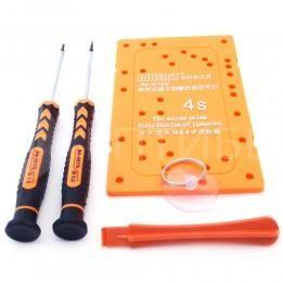 Набор инструмента для ремонта iPhone 4S (отвертки, присоска, спуджер, табличка для винтов)