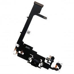 Нижний шлейф Dock коннектор для iPhone 11 Pro черный