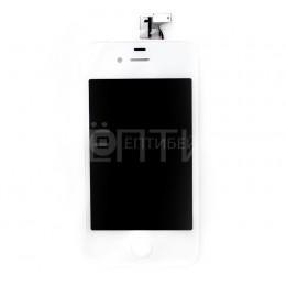 Дисплей (тач скрин и матрица) для iPhone 4 белый