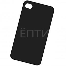 Пластиковый защитный чехол для iPhone 4 / 4S черный