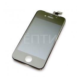 Дисплейный модуль в сборе (тач стекло + экран, матрица) черный для iPhone 4S
