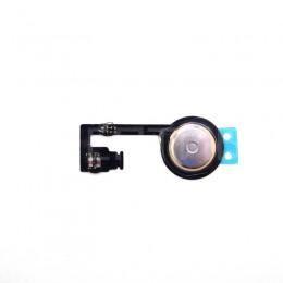 Шлейф круглой кнопки HOME с мембраной для iPhone 4S черный / белый