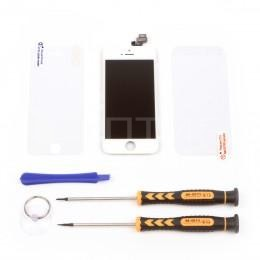Набор для замены дисплея в iPhone 5 белый c инструментом и картой винтов