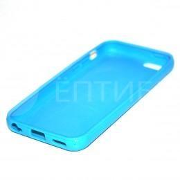 Пластиковый защитный чехол для iPhone 5 / 5S / SE голубой