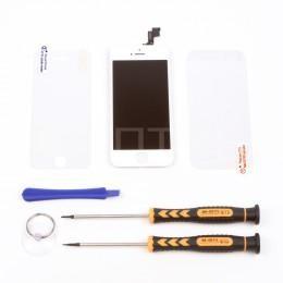 Набор для замены дисплея в iPhone 5S/SE белый c инструментом