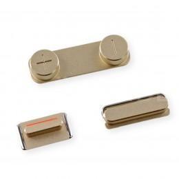 Комплект кнопок Power, громкости, Mute для iPhone 5S/SE цвет золотой