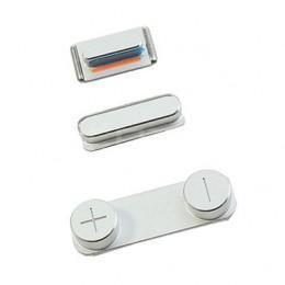 Комплект кнопок Power, громкости, Mute для iPhone 5S/SE цвет серебристый