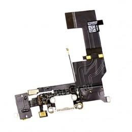 Нижний шлейф DOCK CONNECTOR для iPhone 5S c аудио разъемом и микрофоном белый