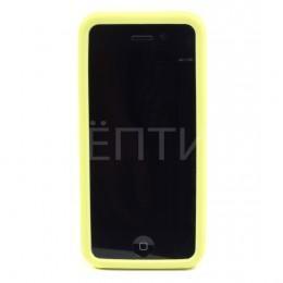 Пластиковый защитный чехол для iPhone 5C желтый
