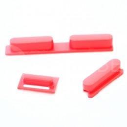 Набор кнопок для iPhone 5C (Громкость, Mute, Power), цвет Розовый