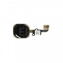 Кнопка HOME со шлейфом для iPhone 6 Plus черная
