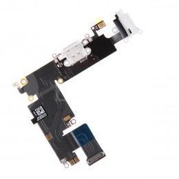 Нижний шлейф Dock коннектора / аудио выхода с микрофоном для iPhone 6 Plus белый