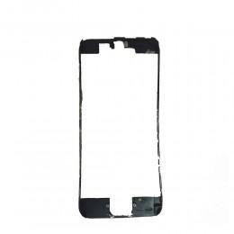 Пластиковая рамка дисплея черная с клеем для iPhone 6