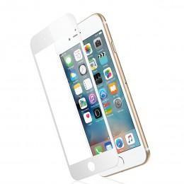 Трехмерное 3D защитное противоударное стекло для iPhone 6 / 6S белое