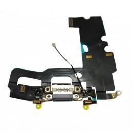 Нижний шлейф Dock коннектор с микрофоном для iPhone 7 Plus черный