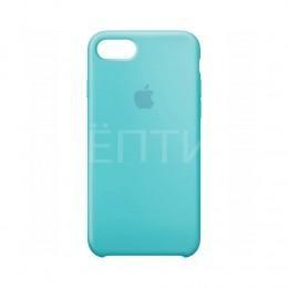 Ударопрочный силиконовый голубой чехол для iPhone 7
