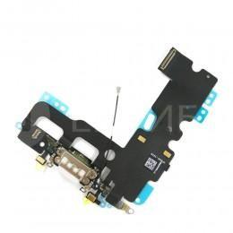 Нижний шлейф Dock коннектор с микрофоном для iPhone 7 белый