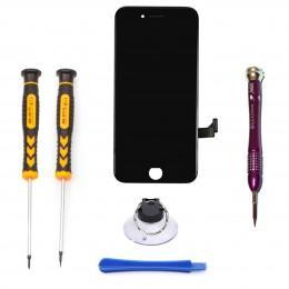 Набор для замены дисплея в iPhone 8 Plus черный c инструментом