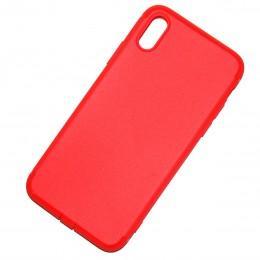 Антискользящий чехол для iPhone X пылезащитный красный