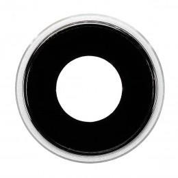 Стекло задней камеры с рамкой для iPhone XR белое