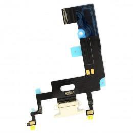 Нижний шлейф Dock коннектор для iPhone XR белый