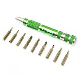 """Портативный набор отверток типа """"ручка"""" для MacBook Pro Proskit 10 в одном"""