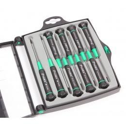Комплект отверток для ремонта сотовых телефонов и ноутбуков Proskit 9 шт. в чемодане, SD-9302