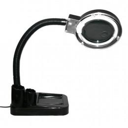 Настольная лампа лупа с LED подсветкой для ремонта