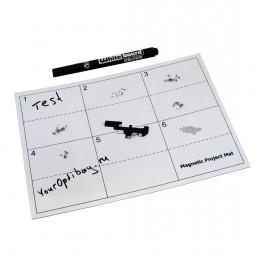 Магнитный коврик с разметкой и маркером для ремонта iPhone, iPad, iMac, MacBook