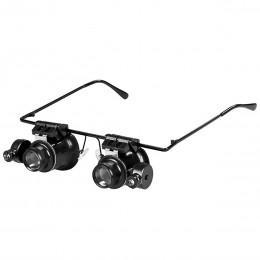 Лупа - очки x20 с LED подсветкой для мелкого ремонта