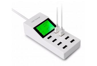 Зарядная станция на 10 портов USB 5V 9.2 А для Apple iPhone, iPad