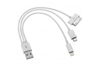 Кабель для зарядки iPhone, iPad, HTC, Samsung с MicroUSB, Lightning, USB 30 Pin