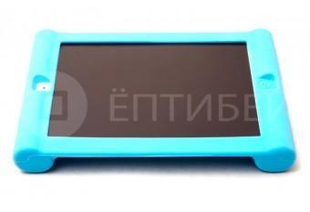 Детский чехол для ребенка для iPad 2/3/4 силиконовый голубой